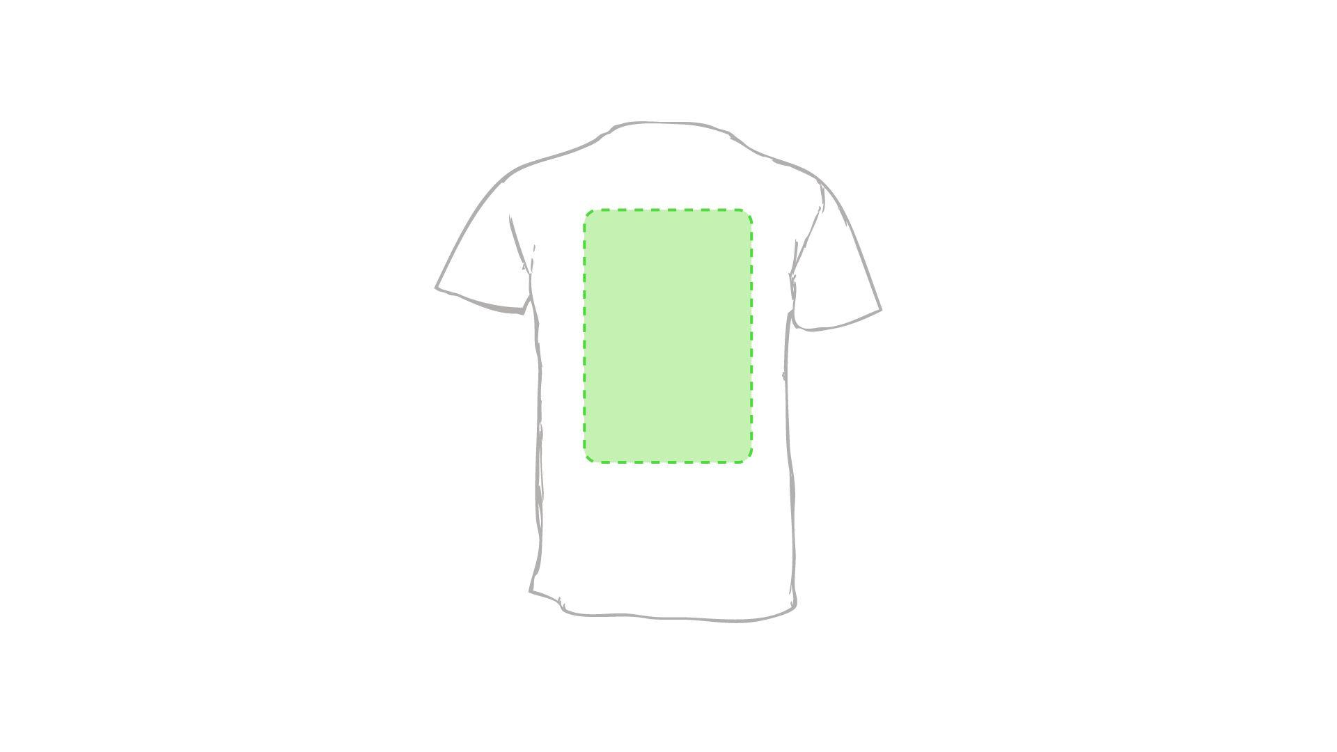 gráfico espalda marcaje camisetas