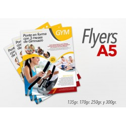 Flyers color 15x21cm 250 Unidades 2 caras 135gr