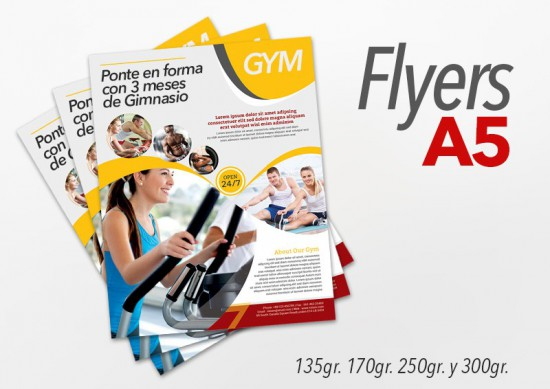 Flyers color 15x21cm 3000 Unidades 1 cara 300gr