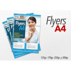 Flyers color A4 5000 Unidades 1 cara 135gr