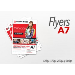 Flyers color 10x7.5cm 2000 Unidades 1 cara 135gr