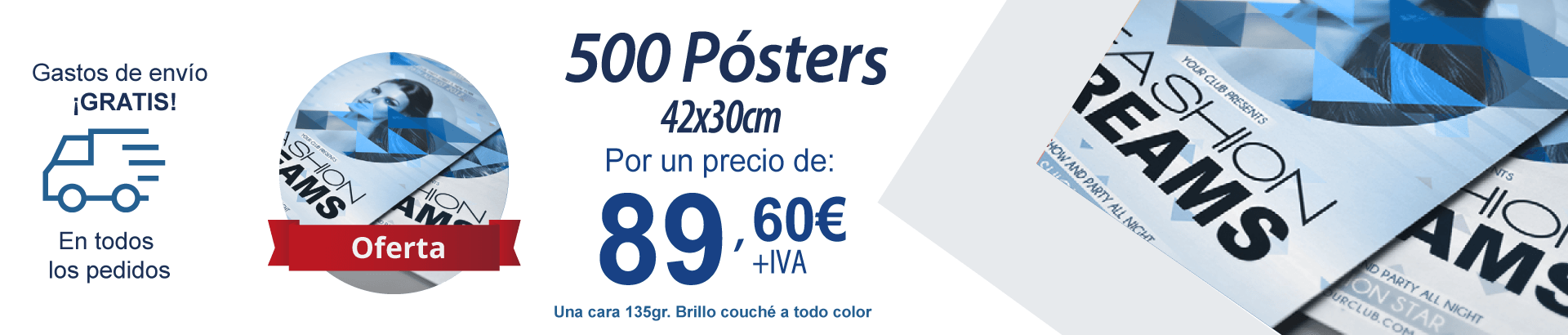 Ofertas 500 posters A3